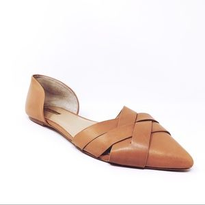 BCBGeneration BG-PEPPERP Tan Leather Flats Size 11